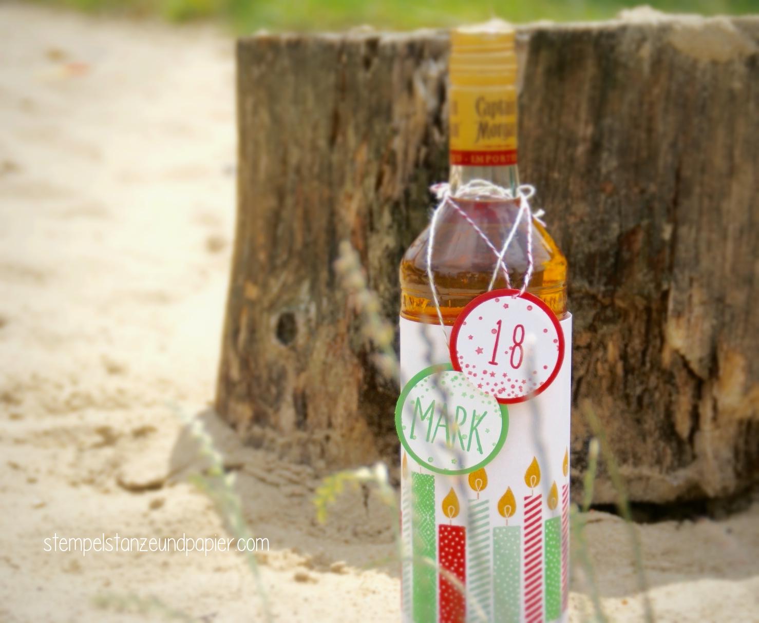 Flaschenverpackung build a birthday