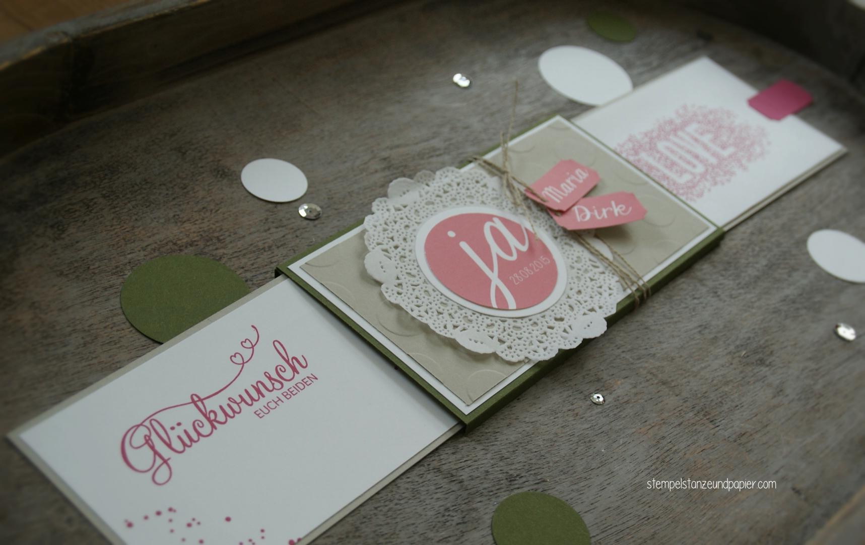 Doppelziehkarte Hochzeit