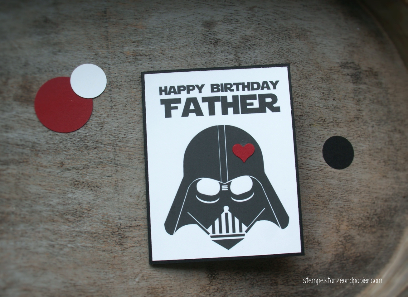 Happy Birthday Father Starwars Geburtstagskarte Stempel Stanze