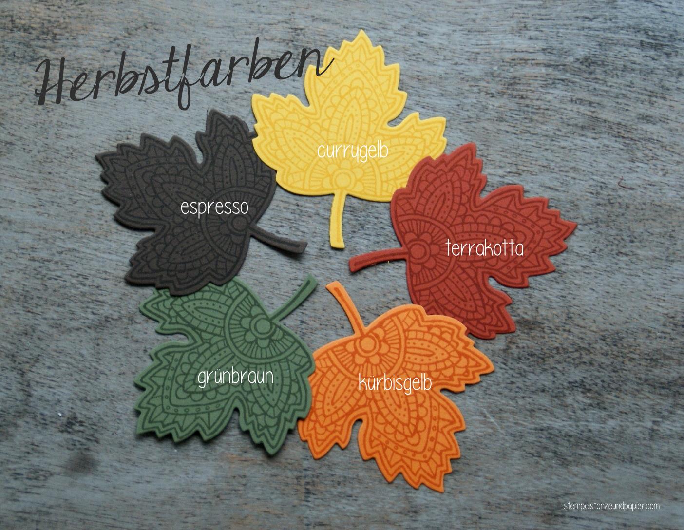 Blättertanz Herbstfarben