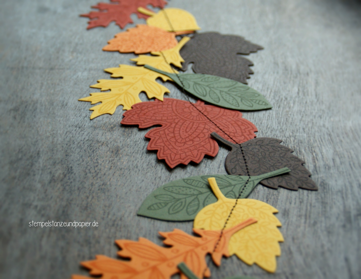 Blättertanz genäht