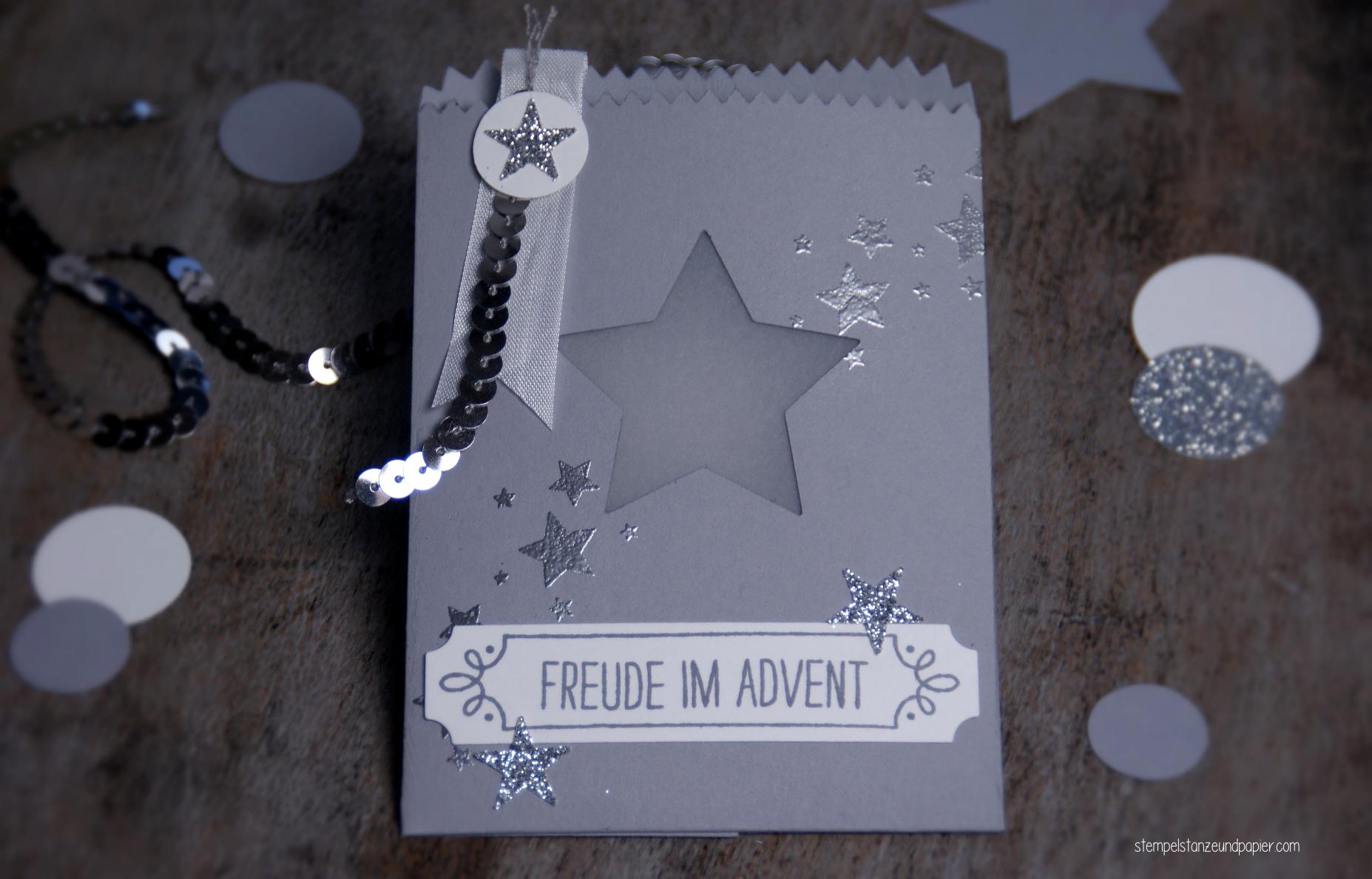 Mini Adventskalender embossing