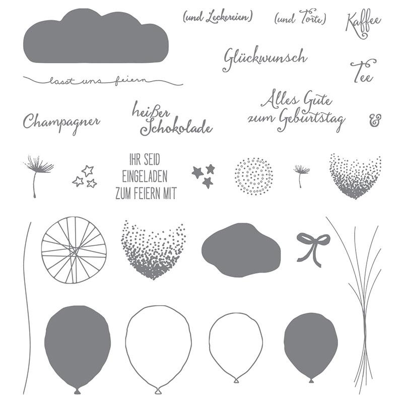 Das Stempelset Partyballons von Stampen' Up!®