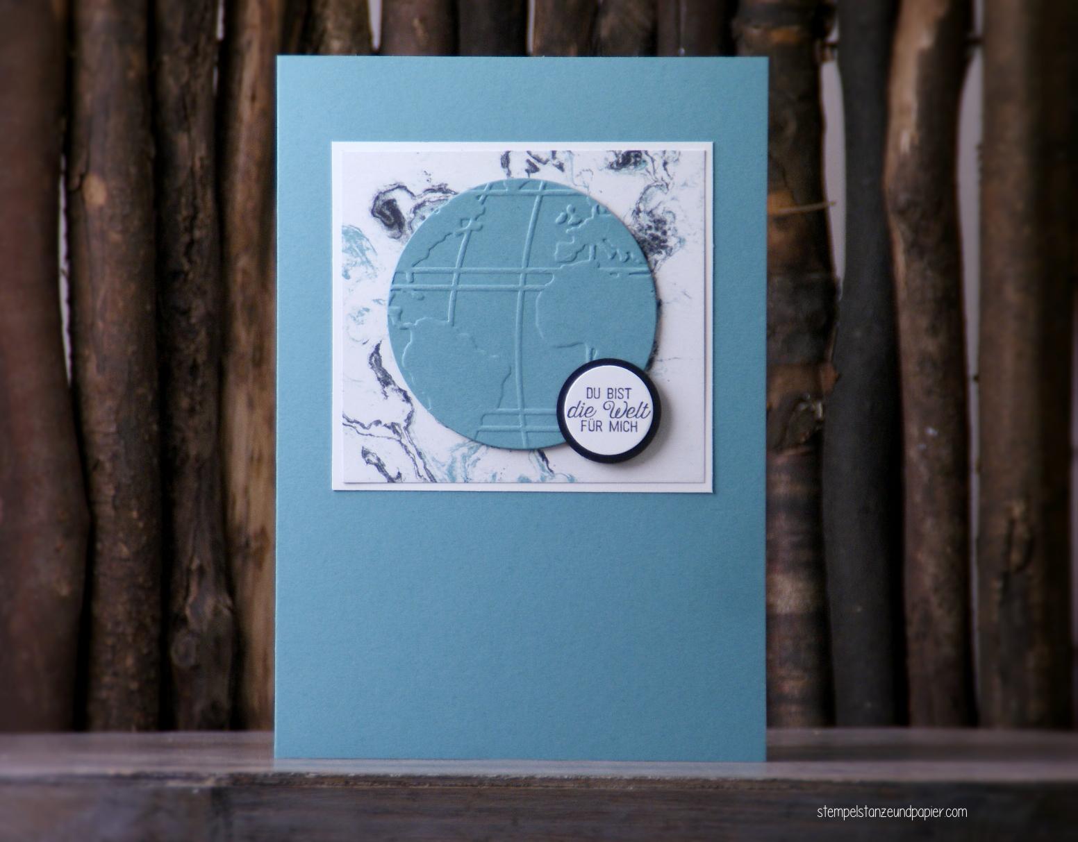 Stempelset Liebe ohne Grenzen Karte für das Global Design Project