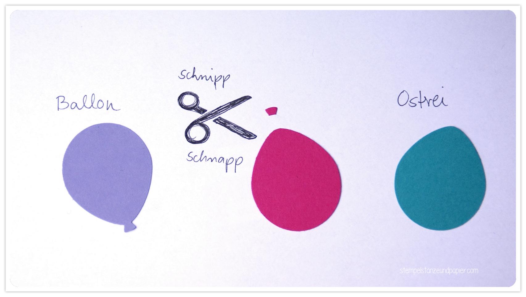 Osterei mit der Luftballonstanze Schokoladentafelverpackung stempelstanzeundpapier
