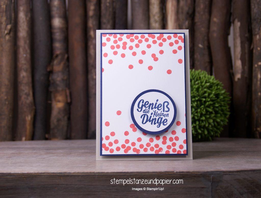Genieß die kleinen Dinge, eine Karte mit dem Stempelset Die kleinen Dinge und Dotty angles von Stampen' Up!