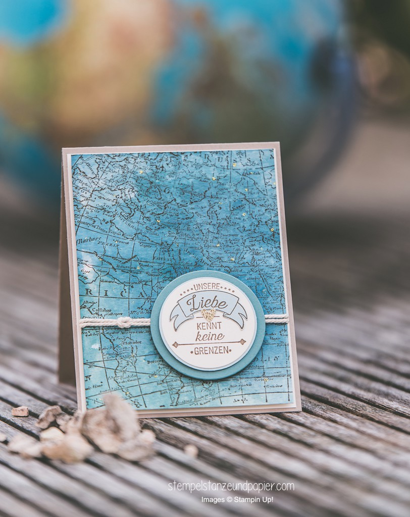 Liebe ohne Grenze Karte Weltkarte Aquarell Seemannsknoten International Blog Highlight 3