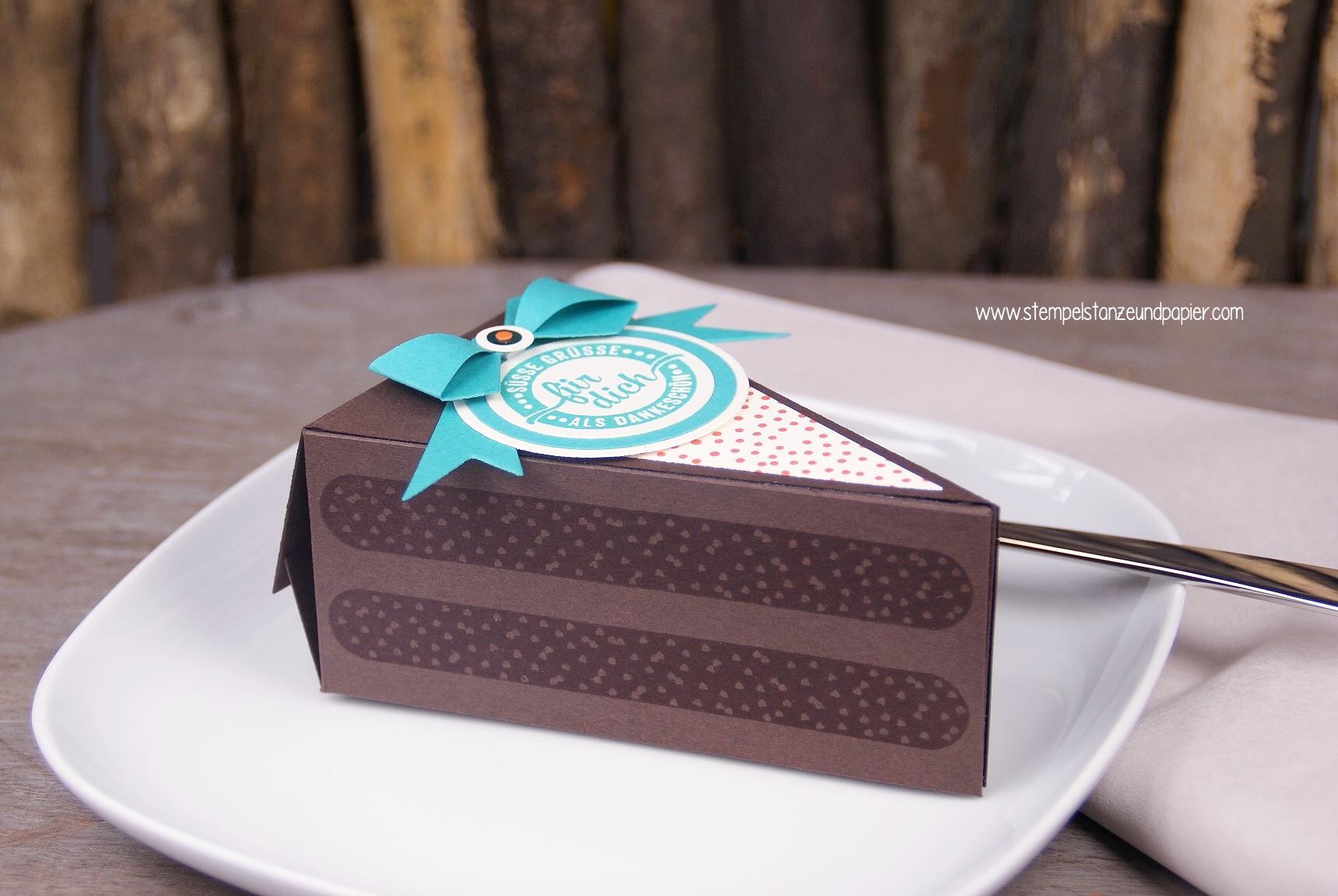 Thinlits Tortenstück|cutie pie|Stemeplset Süße Stückchen|gdp029|espresso|bermudablau|orangentraum|Tortenstück|Torte aus Papier|für dich