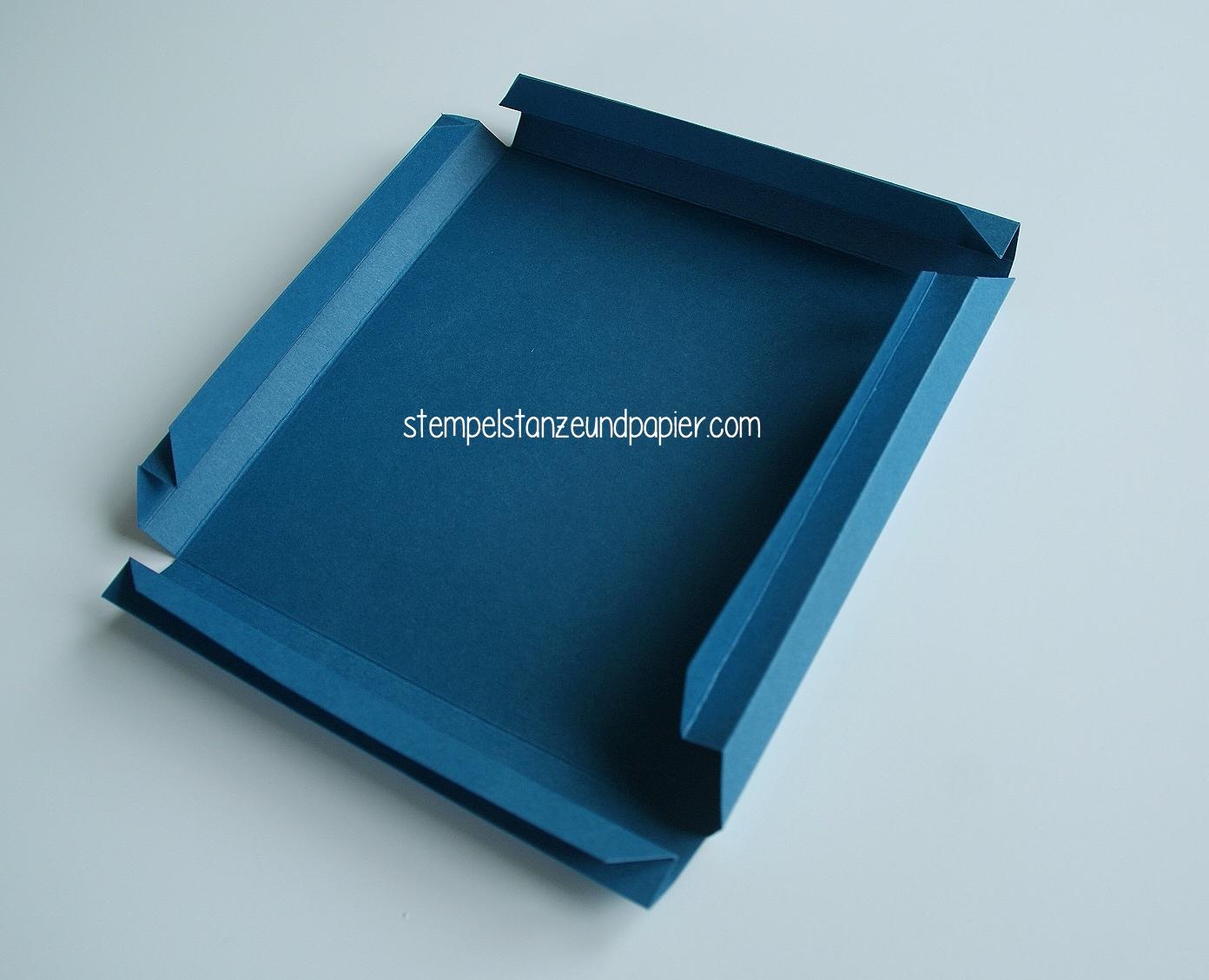 Anleitung Für Einen Bilderrahmen Aus Papier Stempel Stanze Und Papier