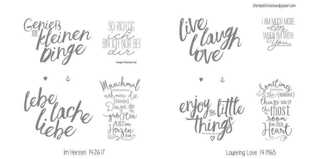 Stempelset Im Herzen Layering Love von Stampin Up_Collage