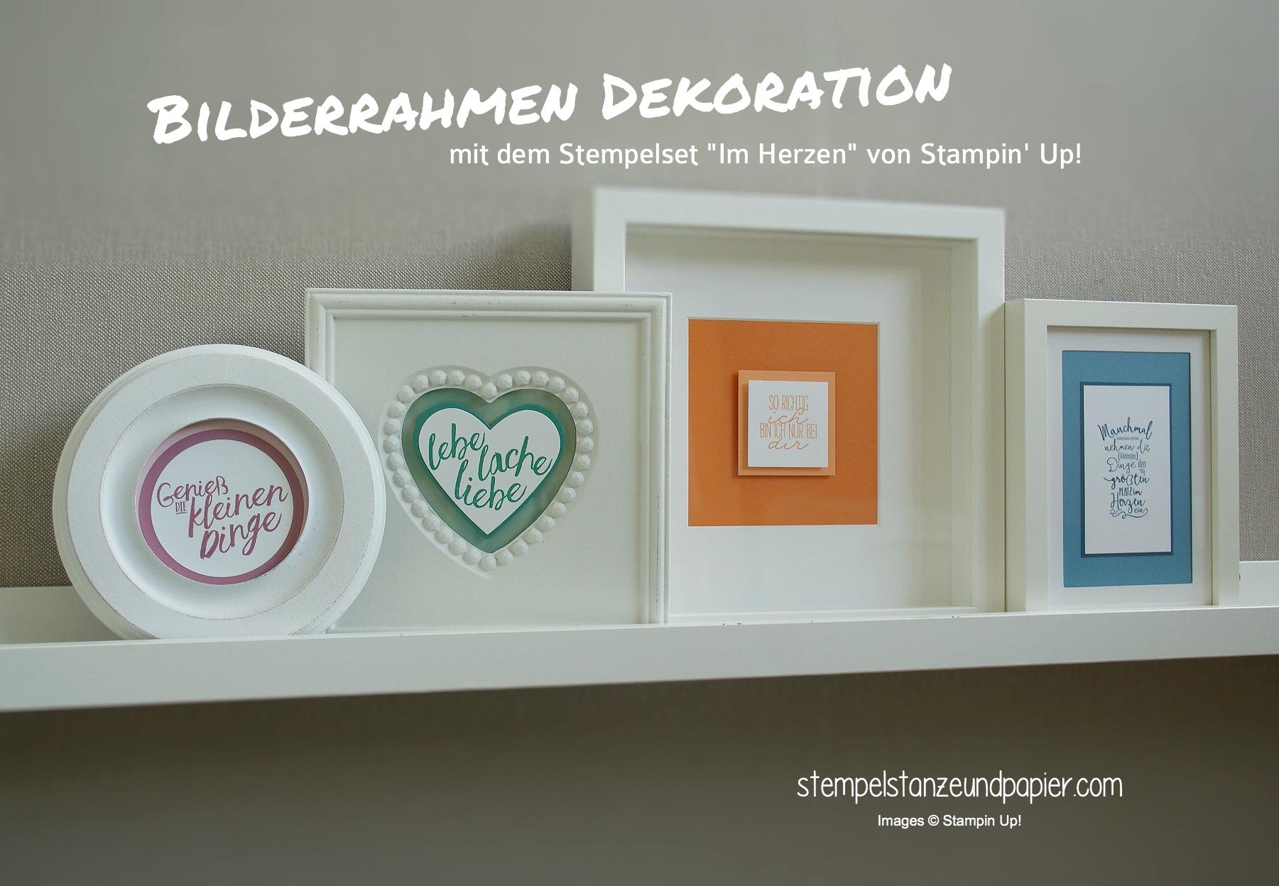 Bilderrahmen Dekoration mit Stempeln - Stempel, Stanze und Papier
