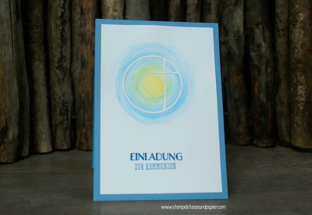 Kommunionkarte-Einladung-Kreuz-im-Aquarell