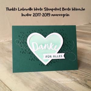 Liebevolle Worte Beste Wünsche Incolor 2017 2019 meeresgrün Stampin' Up! stempelstanzeundpapier