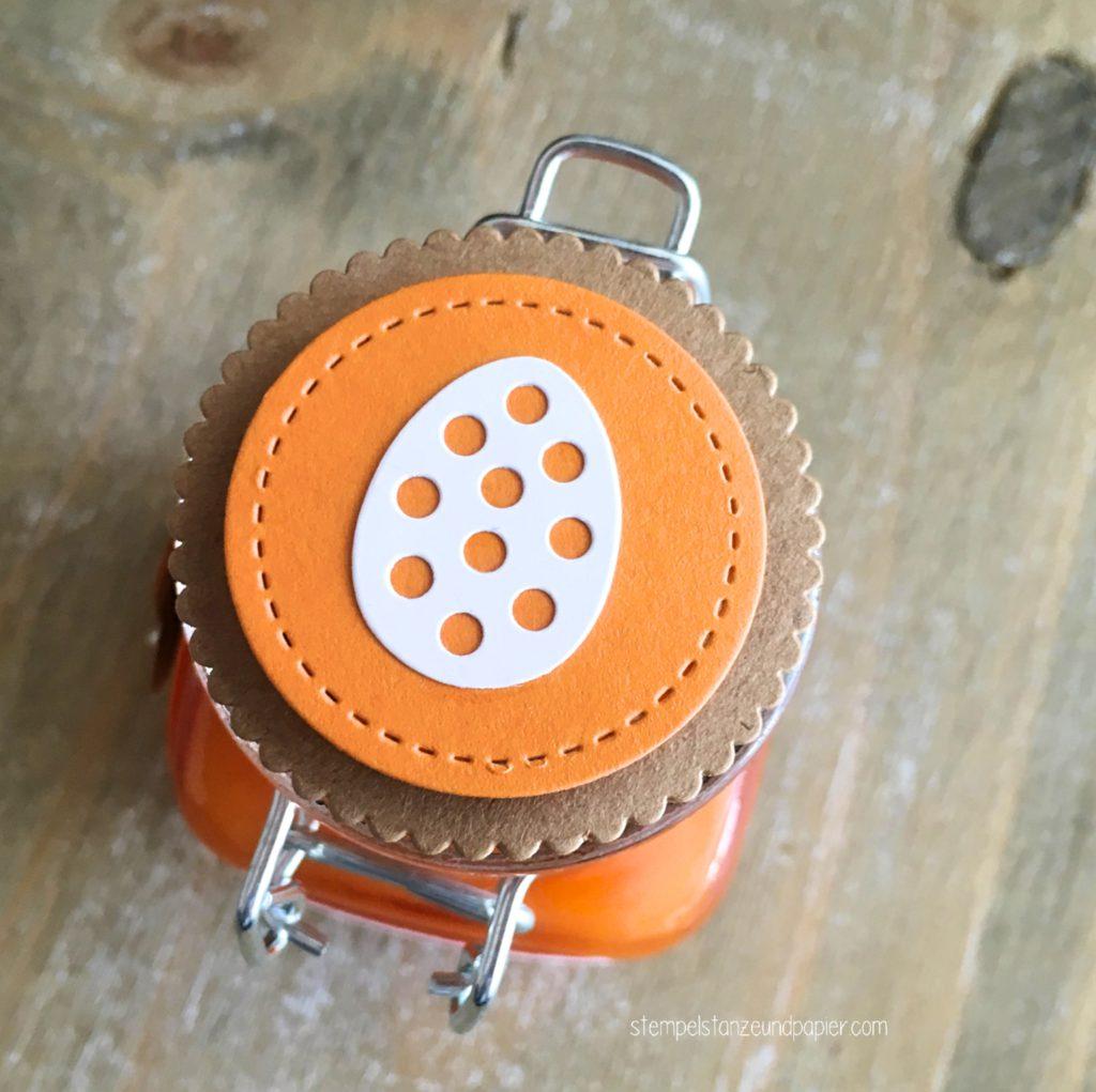 Osterhasenfrühstück Marmelade Rezept Osterkörbchen Framelits stampin' Up! stempelstanzeundpapier