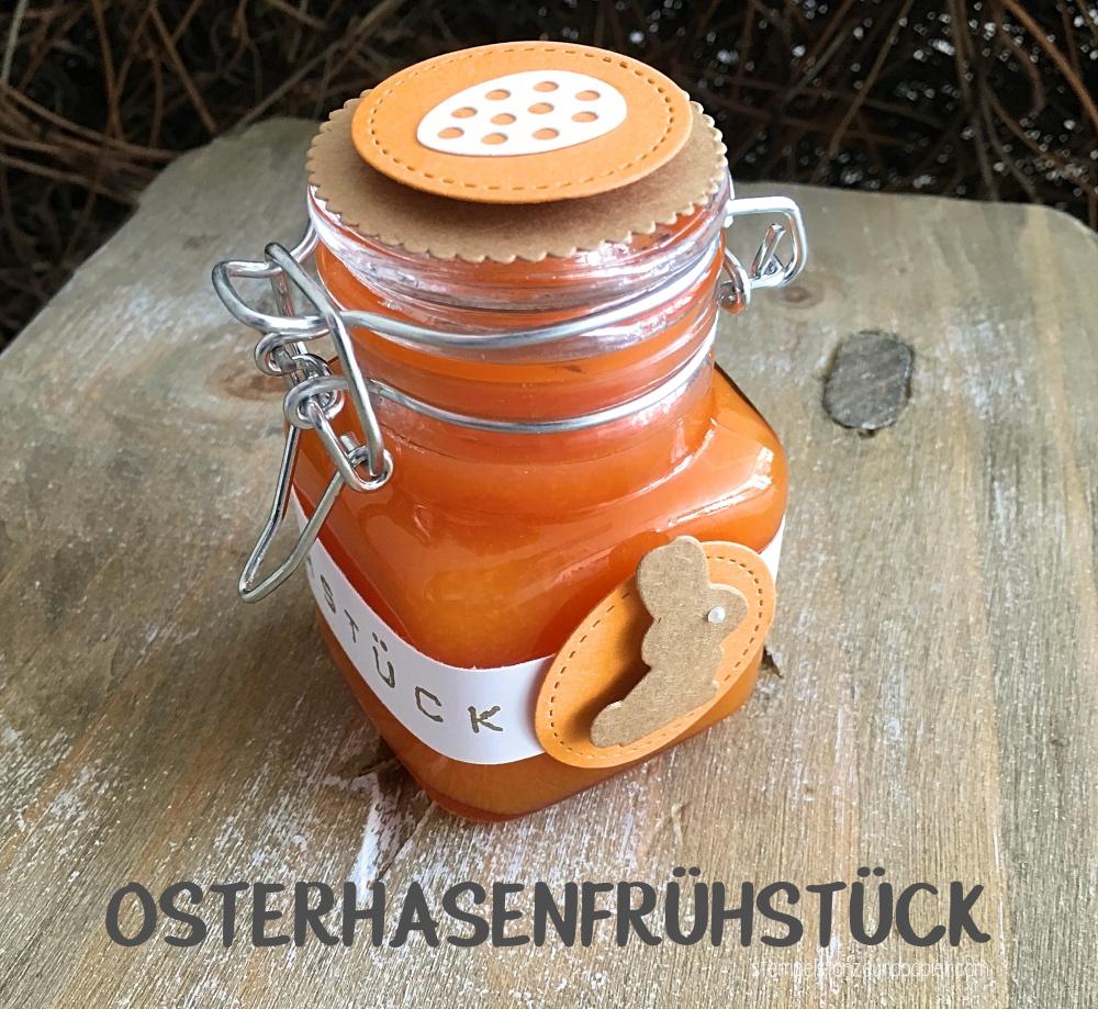 Osterhasenfrühstück Orangen-Möhren-Apfel-Marmelade-Rezept-Verpackung-Geschenke aus der Küche