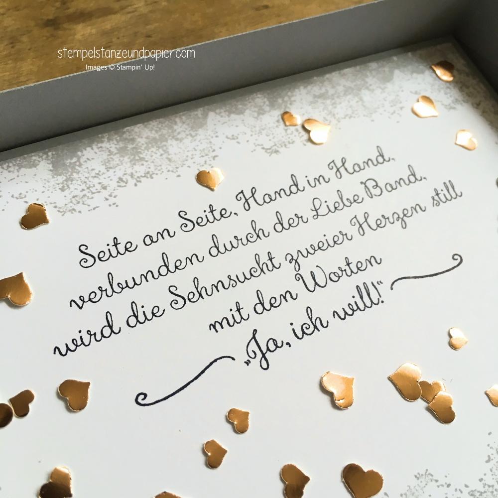 Geldgeschenk zur Hochzeit verpacken fuer besondere anlaesse stampin up stempelstanzeundpapier detail