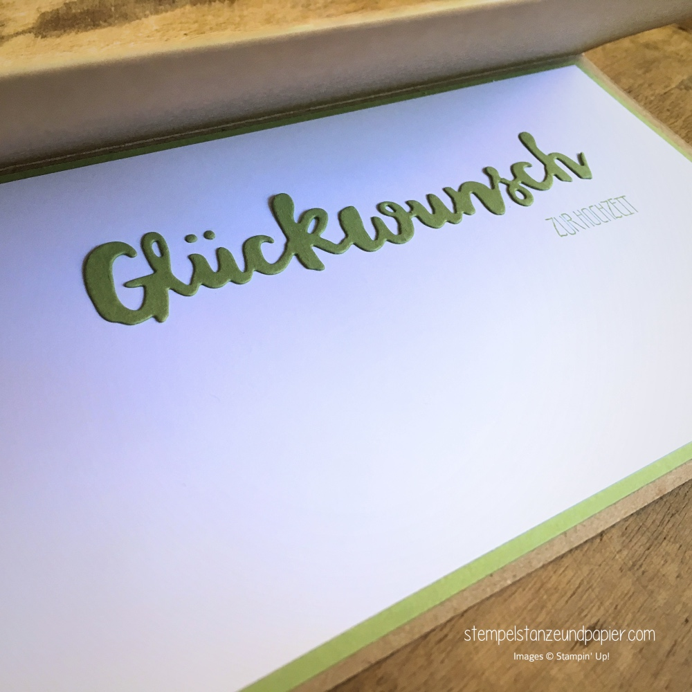 glueckwunschkarte hochzeit gruesse voller sonnenschein stampin up stempelstanzeundpapier