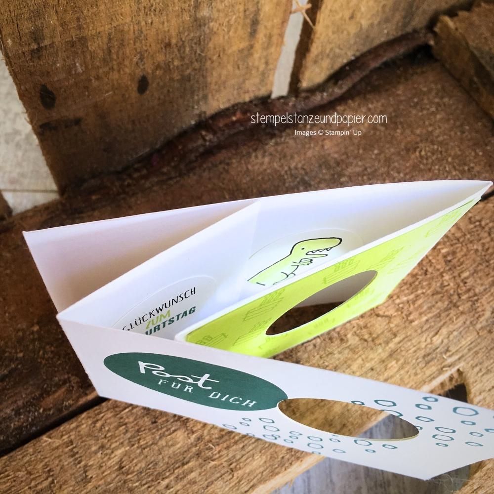 peek-a-boo-card innen technick stempelset dies und das kurz gefasst dino stampin up stempelstanzeundpapier