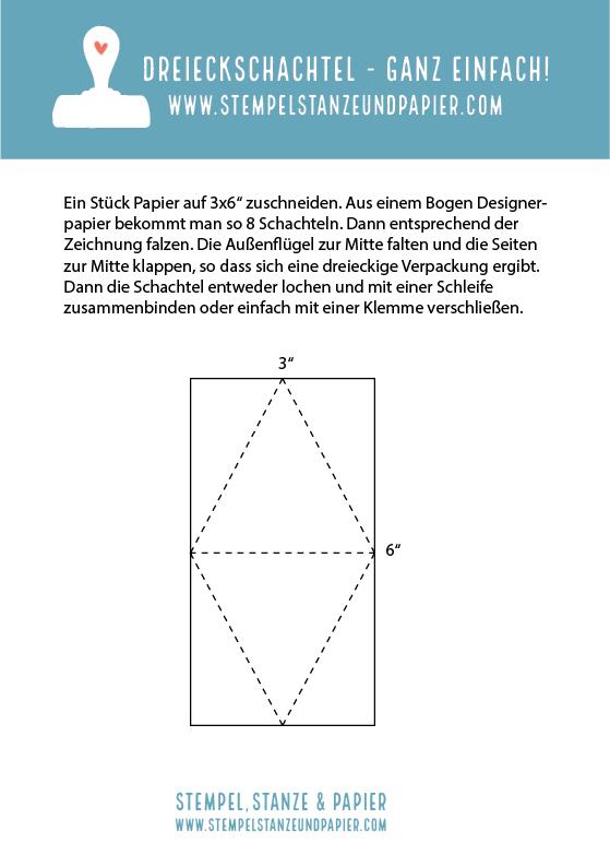 Anleitung Dreieckschachtel stempelstanzeundpapier