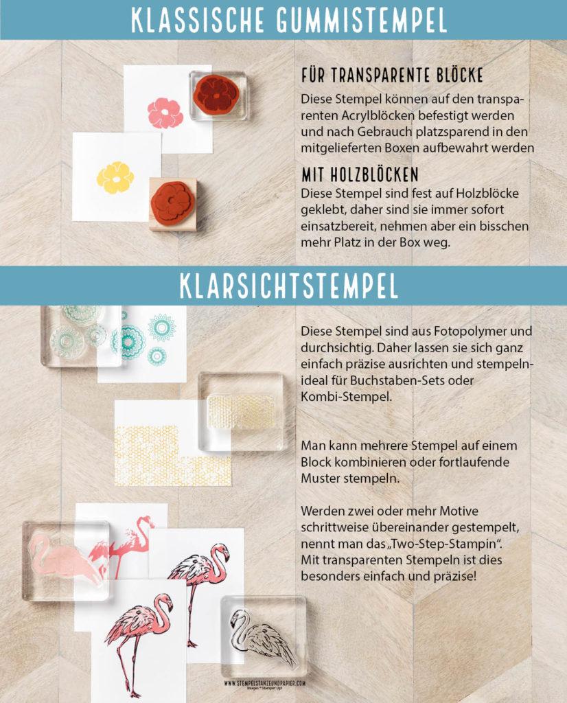 klassische gummistempel und klarsichtstempel von stampin up stempelstanzeundapier