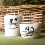 Frohe ostern osterhasen aus gips stempelstanzeundpapier