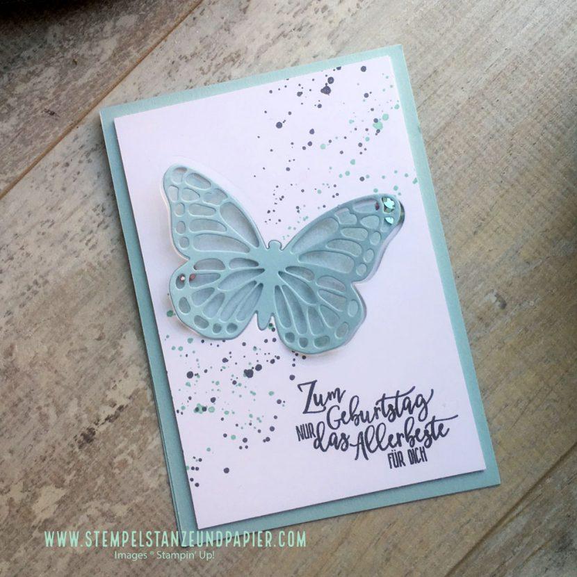 Stampin' Up! Schüttelkarte mit Schmetterling