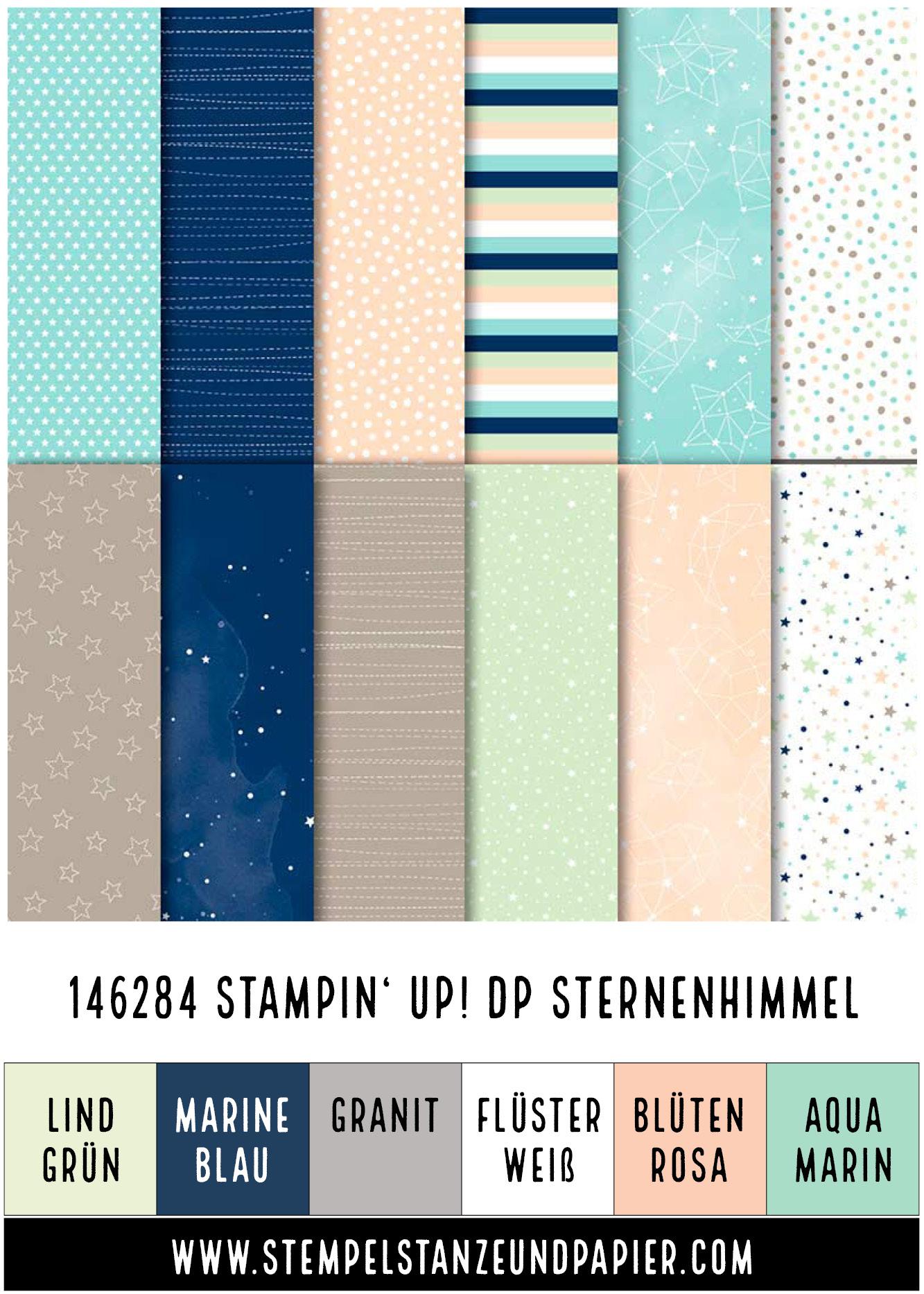 Designerpapier Sternenhimmel Stampin' Up! stempelstanzeundpapier