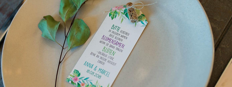 Blumensamen Gastgeschenk Taufe Stempel Stanze Und Papier