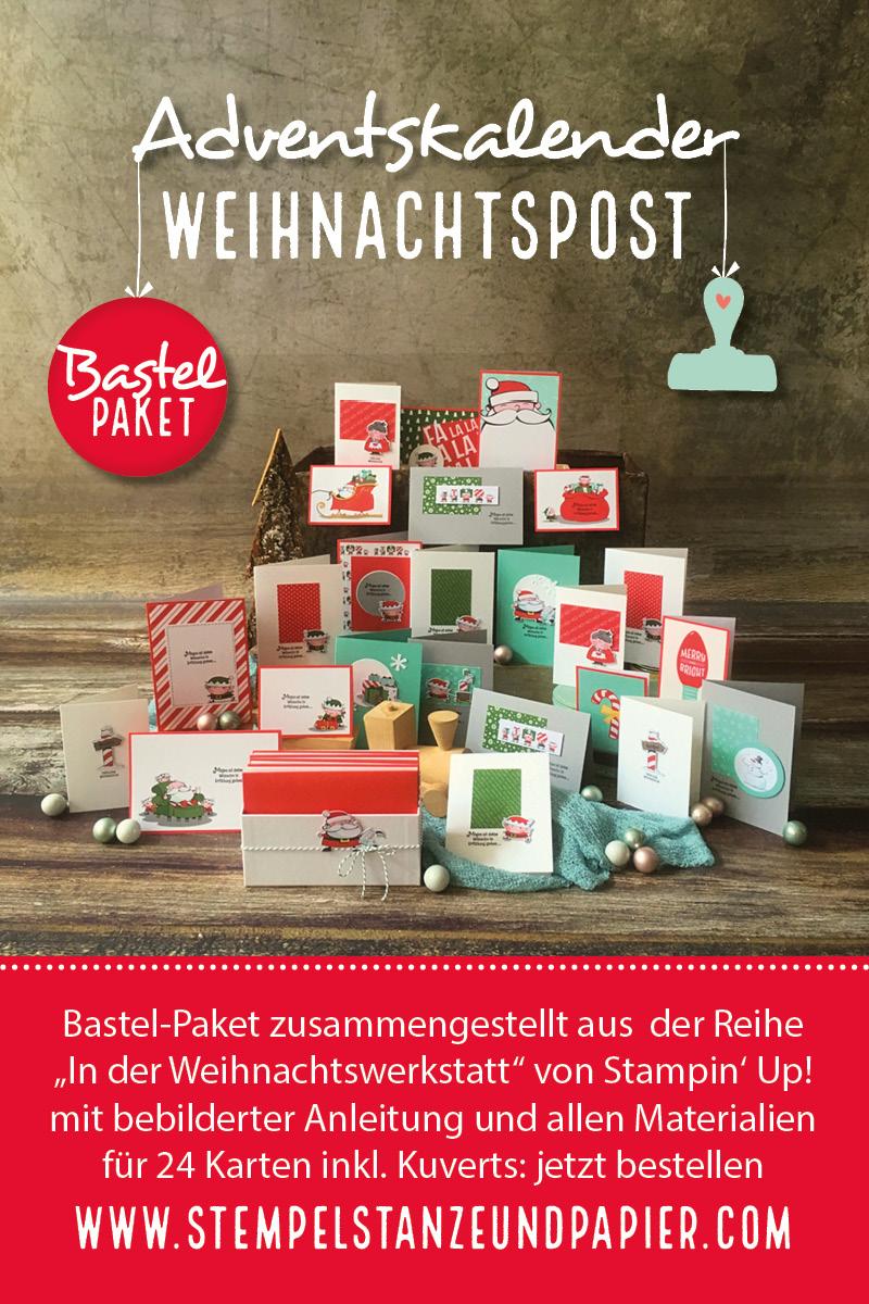 Adventskalender Projektset jeden Tag eine selbstgebastelte Weihnachtskarte verschicken stempelstanzeundpapier 1