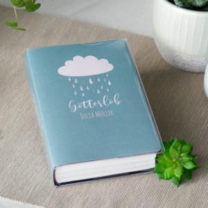 Gotteslobhülle Wolke mit Regentropfen